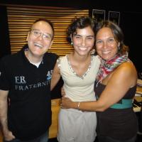 Em 2010, na gravação do CD de Lucila Novaes, com parrticipação de Bruna Caran