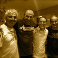 Na produtora Lua Nova com Ricardo Fleury, Márcio Gianullo e Beto Freitas