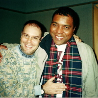 Com o cantor e compositor Lula Barbosa. Gravação do CD Tatanka. (2000)